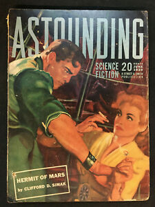 ASTOUNDING SCIENCE FICTION PULP MAG JUNE 1939 VG