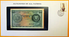 Cyprus - 1979 - 500 Mils - Uncirculated Banknote enclosed in stamped envelope.