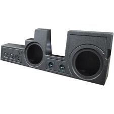"QBomb Rhino Lined Dual 10"" SubWOOFER Sub Speaker BOX Ported Vented Behind Seat"