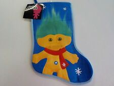BLUE GOOD LUCK TROLLS LARGE CHRISTMAS STOCKING NEW NWT 398*