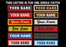 CUSTOM EMBROIDERED NAME EMBROIDERY PATCH 1 X 4 INCH BIKER VEST TAG MADE IN USA