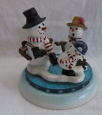 OUR AMERICA FIGURINE MR AND MRS WITH BABY FROSTY THE SNOW MAN FAMLEY