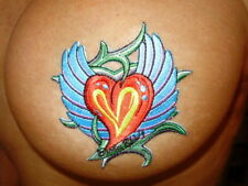 Heart Tattoo look Pasties Waterproof Self Adhesive Sexy