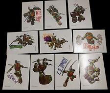 10 Large Teenage Mutant Ninja Turtles Temporary Non Toxic Tattoos