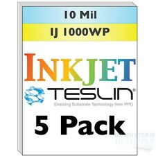 Inkjet Teslin Synthetic Paper For Making PVC-Like ID Cards - 5 Sheets