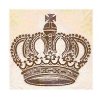 Vintage Crown Ephemera Handmade DIGITAL Counted Cross-Stitch Pattern Needlepoint
