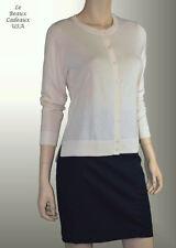 BANANA REPUBLIC Women Cardigan Sweater LARGE Ivory LongSleeve RoundNeck NEW