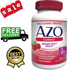 AZO CRANBERRY URINARY TRACT HEALTH DIETARY SUPPLEMENT, 1 SERVING = 1 GLASS 100CT