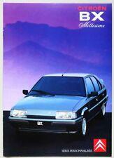 Brochure CITROEN BX Millésime - Série personnalisée - MODÈLE 1991