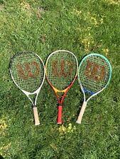 Wilson 23 Tennis Rackets Variety Lot Of 3