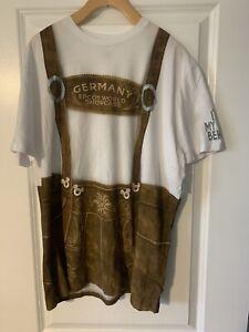 NEW Disney Epcot World Showcase Lederhosen T-SHIRT Germany Oktoberfest M Medium