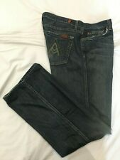 """(*.*) 7 FOR ALL MANKIND * Womens """"A"""" POCKET Boot Cut Blue Jeans * Size 34"""