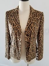 vintage CHEAP & CHIC by MOSCHINO LEOPARD jacket Size 10 Amazing Mint!