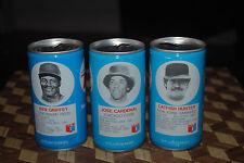 RC Cola Vintage Baseball MLB Cans Ken Griffey Catfish Humter Jose Cardenal 1976