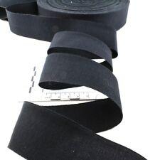 Ripsband Hutband Sägekante 38mm schwarz Baumwolle