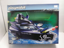 OPEN BOX PLAYMOBIL 4882 TOP AGENTS ROBO GANG BATTLE YACHT & 7350 Underwater Moto