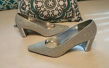 Womens easy street Alive 5 Silver Glitter Dance Flex Shoes ~ Size 10M