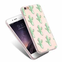 Green Cactus TPU Printed Pattern Ultra Thin Phone Case for iPhone Samsung Huawei