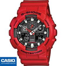 CASIO GA-100B-4AER⎪GA-100B-4A⎪ORIGINAL⎪G-SHOCK Classic⎪ROJO⎪XL⎪HOMBRE