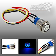 button panel light switch ON / OFF 12V LED push blue led colour 23cm wire