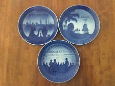 Royal Copenhagen Bicetenary & Hawaii Porcelain Display Plates - Lot of 3