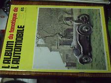 10µµ Revue Fanatique Automobile n°65 Minerva Gabriel Voisin 1500 Cozette Pilain