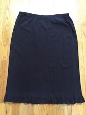 NWT DRESS BARN Woman Brown SKIRT W/ RUFFLE Hem Elastic Waist 18/20