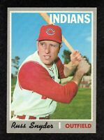 1970 Topps #347 Russ Snyder Cleveland Indians Baseball Card EX/MT