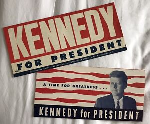 Original American Political Kennedy Material From 1960 Presidential Election