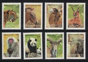 Tajikistan Tiger Panda Camel Caracal Elephant Fauna of Asia 8v 2009 MNH