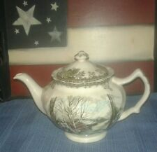 """Johnson Brothers """"Friendly Village"""" 4 5/8 inch Teapot"""