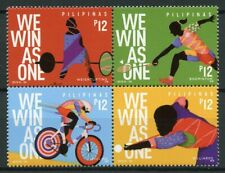 Philippines Sports Stamps 2019 MNH 30th Sea Games Badminton Cycling 4v Block
