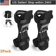 2Pcs Power Knee Support Brace Pads Booster Joint Lift Squat With Powerful Spring