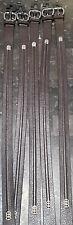 5 Geoffrey Beene Mens Brown Embellished Stitch Genuine Leather Belt Size 34