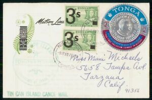MayfairStamps Tonga 1969 Tin Can Island Canoe Mail Coronation Tupou Event Cover