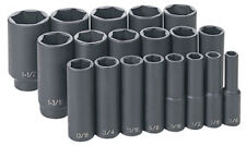 "Grey GRY 1319D 1/2"" Drive 19 Pc. Deep Length Fractional Master Set"