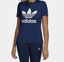 Adidas  Dark Blue T-shirt Logo Trefoil Tee Top UK 12