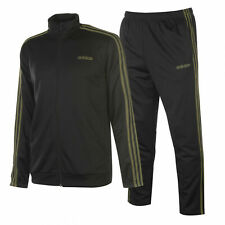 ADIDAS MENS TRACKSUIT JACKET PANTS BLACK SIZE S