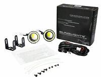"""BlingLights BL5000K 2.5"""" Round White LED Angel Eye Fog Light Driving Lamps Kit"""