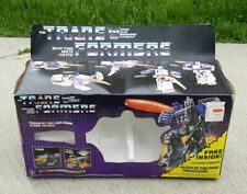 1986 vintage Transformers G1 Galvatron BOX FOAM INSTRUCTIONS ONLY - NO TOY