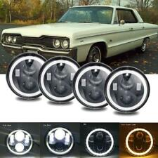 """4PCs 5.75"""" INCH Round LED Headlight Projector Hi-Lo Beam For Ford Gran Torino"""