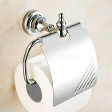Polished Chrome Wall Mounted Bathroom Toilet Paper Holder Roll Tissue Holder