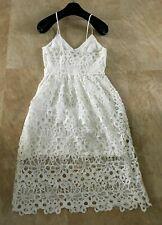 DOLCE & GABANNA Mainline Broderie Sundress Midi Dress IT40 US 2/4