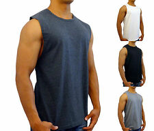 NEW MENS PLAIN MUSCLE TANK SLEEVELESS TOP BODYBUIDING GYM SPORT FASHION SHIRT