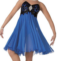 Lyrical / Ballet / Contemporary DANCE COSTUME - X-SMALL ADULT - BLUE - Glamour