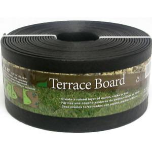 Terrace Board Black Landscape Lawn Edging Garden Border w/ Stakes 5 in. x 40 ft.