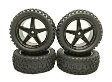 RC Car Wheels 4PCS Model Truck Tyres 1/10 Off Road Buggy *UK SHIPPING*