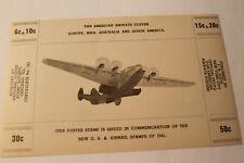 Poster Stamp:   PAN AMERICAN AIRWAYS CLIPPER    1941.