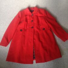 Dorothy Perkins? Orange Wool Blend Coat - Size 20