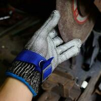 1x Sicherheitsschutz Stichfeste Edelstahlhandschuhe Schnittfester Handschuh NEU
